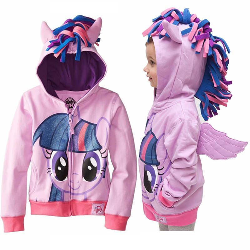 Spring 2019 Girls hoodies My Little Poli Kids Sweatshirt Jackets Baby Hoodie Cute Pony Style Windbreaker Sport Blazer Outerwear