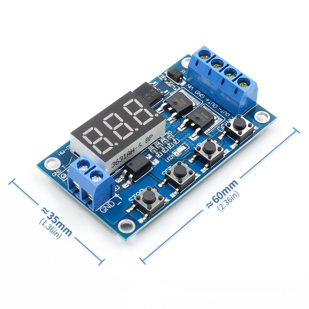 Hot Sale Trigger Cycle Timer Delay Switch 12 24v Circuit Board Dual Photo Mos Tube Control Module