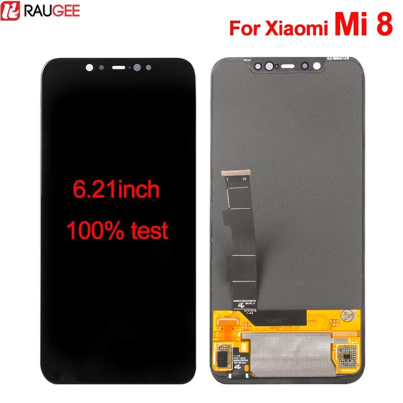 Pour Xiao mi mi 8 LCD Affichage à L'écran Tactile 6.21 pouces Digitizer Écran Assemblée Panneau de Verre lcd de Remplacement Écran Pour xiao mi mi 8 M8
