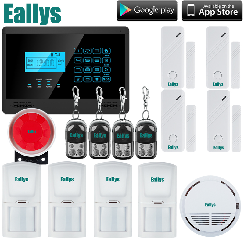 Free Shipping LCD Security Wireless GSM Autodial House Office Burglar Intruder Alarm System new safurance wireless lcd gsm sms autodial alarm security home house burglar intruder system home safety alarm mainframe kits