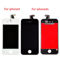For IPhone 4 4s New Black White LCD Display Touch Screen 3 5 Touch Panel Glass