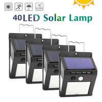 1/2/4pcs 20/30/40LED Solar Light PIR Motion Sensor Wall Lamp Waterproof Garden Security Light Solar Lamp