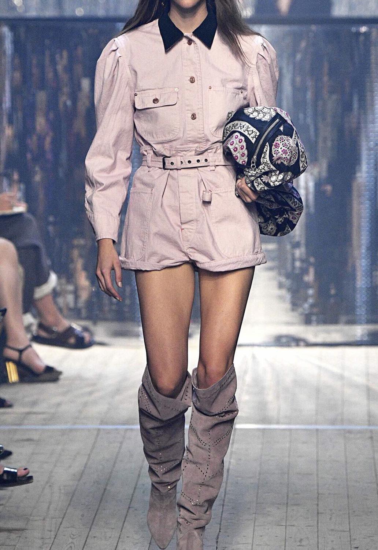 Weiß Rosa Schwarz IKE Baumwolle SHORTS Hohe Taille Schnalle Gürtel Große taschen seite zurück Gerollt Manschetten Saum-in Shorts aus Damenbekleidung bei  Gruppe 2