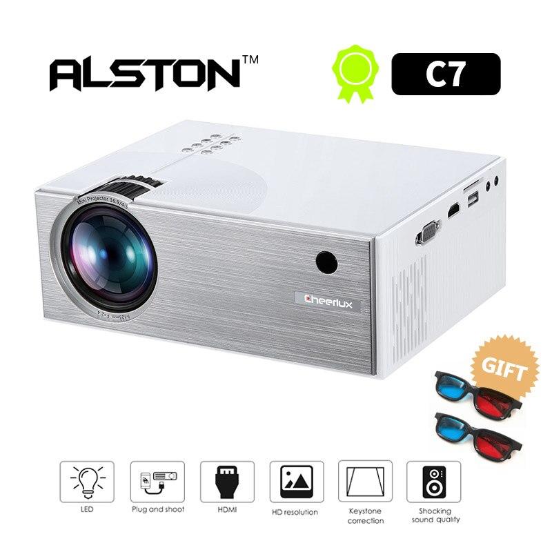 Video-Projector ALSTON Home Cinema Portable Led-Beamer Lumens 1800 LCD for AV USB VGA