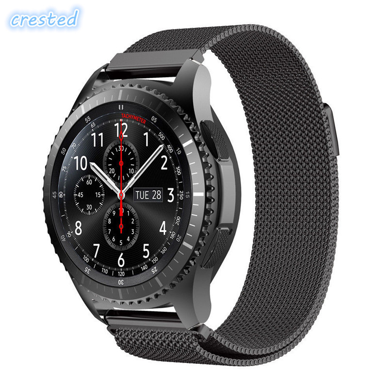 CRESTED Mesh Milanese loop strap for Samsung Gear S3 S2 huawei smart watch link bracelet Wrist Watch Band Strap Magnetic Closure 2017 new stainless steel bracelet strap watch band milanese magnetic with connector adapter for samsung gear s2 watch band