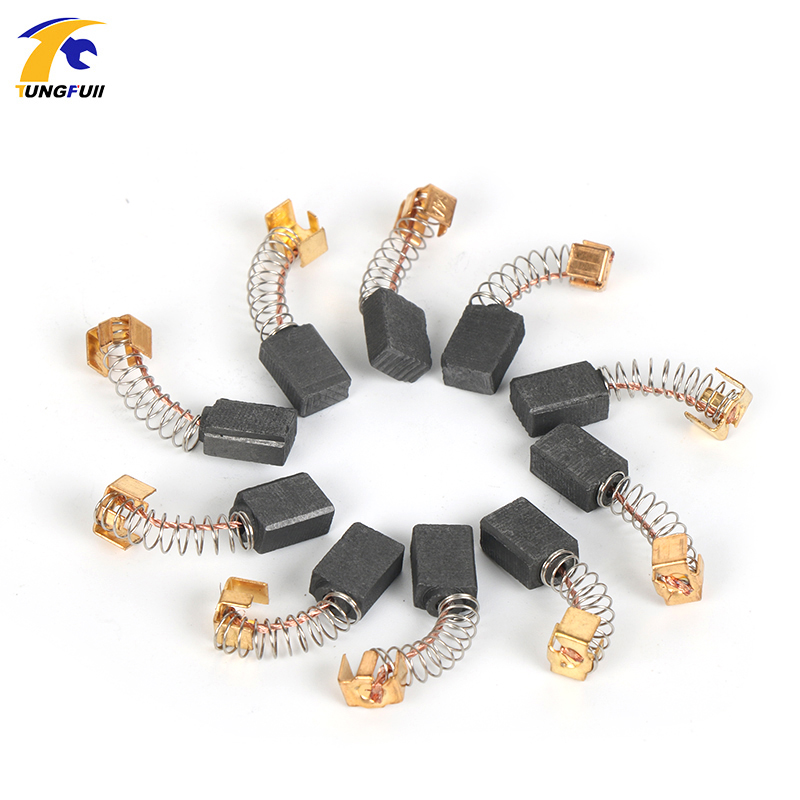 Tungfull 10 Pcs Carbon Brushes 5*8*12.5 Drill Electric Grinder Industrial Electric Motor Carbon Brushes Power Tools Replacement