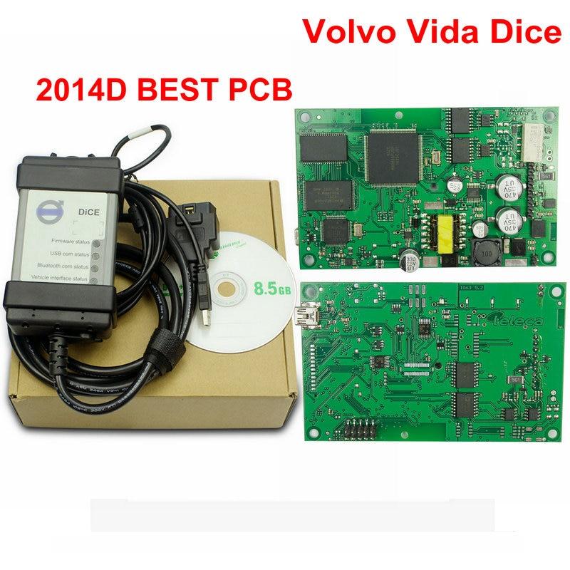 Super Professional Car Diagnostic Tool For Vol vo Vida Dice Pro 2014D Newest Version Supports Both