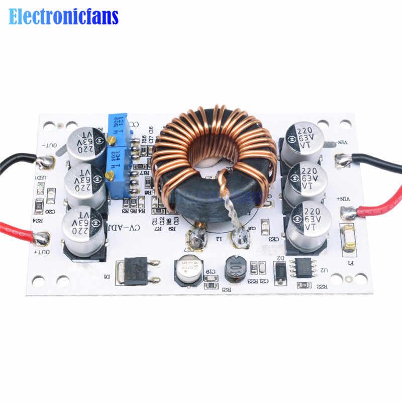 Placa de aluminio de 600W, convertidor Boost DC-DC, módulo de fuente de alimentación de corriente constante de 10A ajustable, controlador Led para Arduino