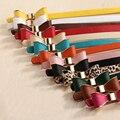 Bowknot Diseñadores Femenina de Lujo de la Marca Correa de Cuero de LA PU Cinturones de Vestir para Mujeres Pantalones Vaqueros de Alta Calidad para La Boda Vestido
