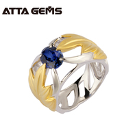 ATTAGEMS 2017 Best Selling Wholesale 100 Sterling Silver 925 TWO YELLOW LEAVES Suitable Jewelry For Fashion