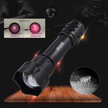 T20 IR Flashlight 400 yard Zoomable Focus 7 Watt 850nm LED Infrared Radiation Lamp Night Vision Flashlight Torch+Pressure Switch uniquefire 1508 osram infrared 940nm led flashlight 38mm convex lens night vision zoomable torch 3 mode remote pressure switch