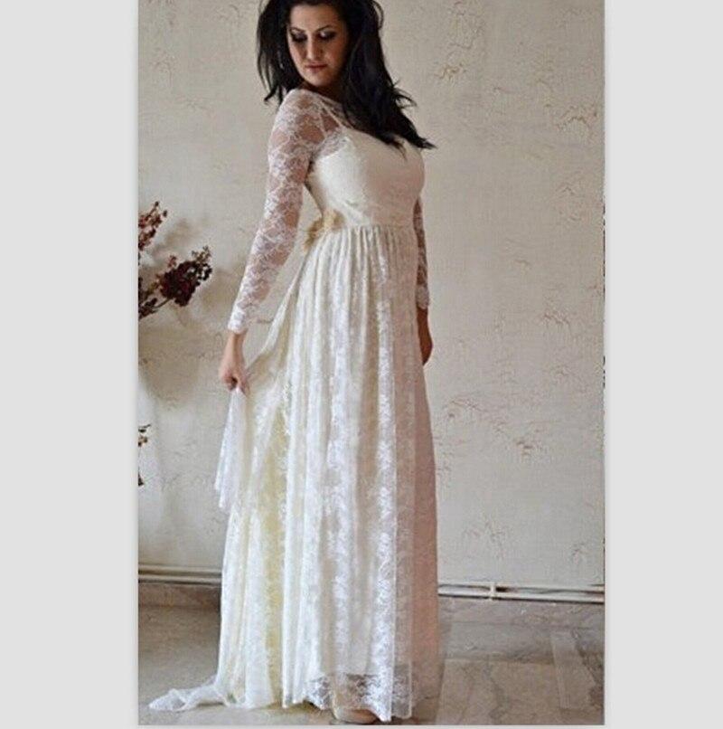 Embarazada Boda 2015 Blanca Vestido Del Cordón Vintage De Playa nZBB1xwIq