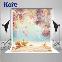 Kate crianças cenários de fotografia flor starfish beach fundos 5x7ft cenários cênica fotografia fundos photo booth