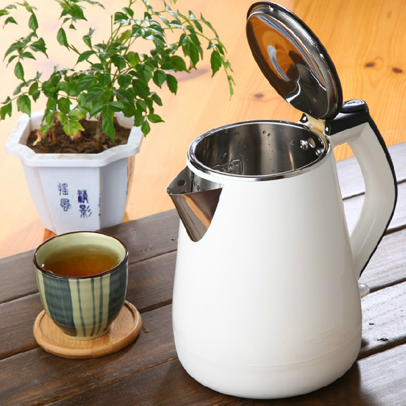 electric kettle insulated automatically without electricity, boiling water pot Anti-dry Protection double layer insulated 1 7 l electric kettle for cooking water kettles anti dry protection