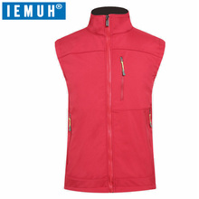 IEMUH Brand Winter Softshell Vest Men Waterproof Thermal Hiking Vests Breathable Sport Outdoor Waistcoat Fleece Fishing
