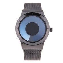 Bgg mens casual relojes estudiantes reloj de cuarzo de negocios de dos platos de malla banda militar reloj hombre creativo reloj horas