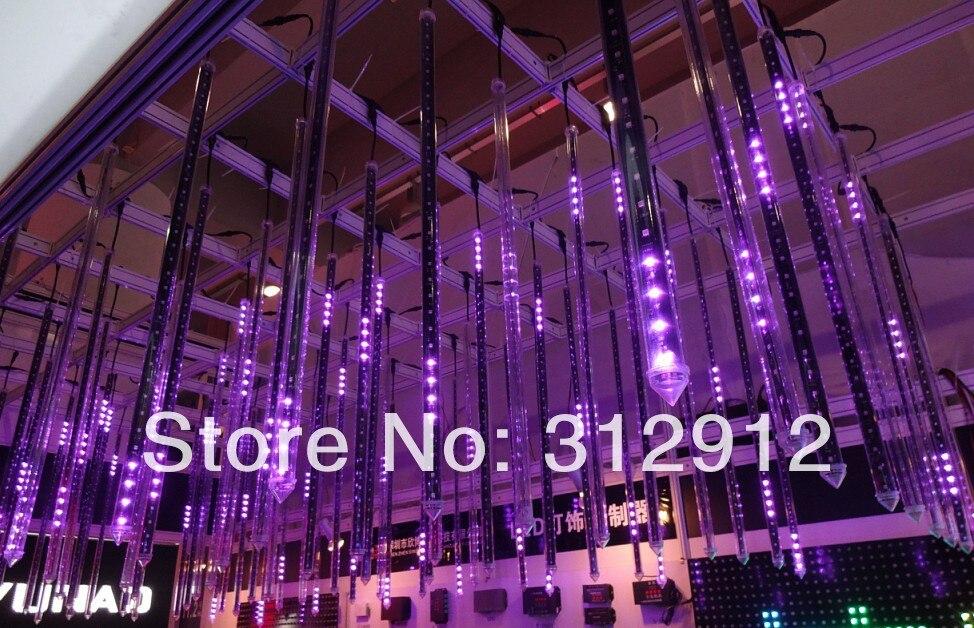 5 pièces 2 m long DMX512 360 degrés 3D LED numérique météore tube; 3D dmx tube vertical; 32 pixels/chaque tube; IP65; DC12V; 48 W; 30mm de diamètre
