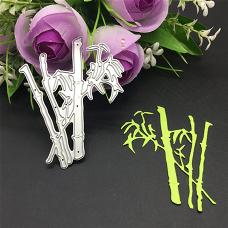 Bamboo Metal Cutting Dies Stencil Scrapbooking Photo Album Card Paper Embossing Craft DIY