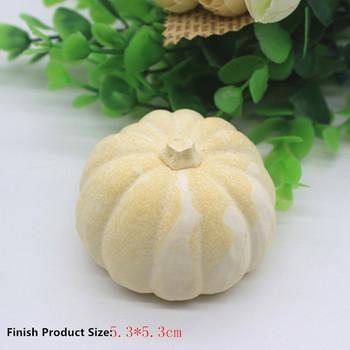 3D dynia Food-Grade świeca silikonowa formy mydło wyrabiane ręcznie narzędzie dekoracyjne dla foremka na świece gips aromaterapeutyczny rzemiosło Making tanie i dobre opinie FW-SM9213 5 5*7cm Silicone pumpkin 5 3*5 3cm -40F to +446F(-40c to +230c) DIY Candle Carfts