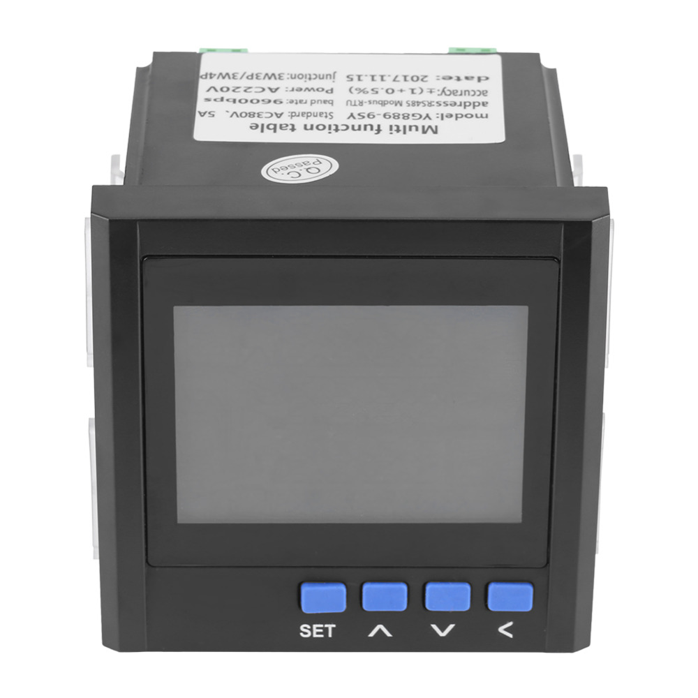 Multifunction Power Meter 3 Phase Electric Current Voltage Frequency Power Energy Meter V A Hz kWh
