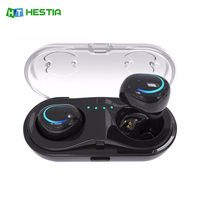 HESTIA Dual TWS Q18 Wireless Bluetooth Headset HiFi Bass Earphone With Charging Box Earphones For IPhone