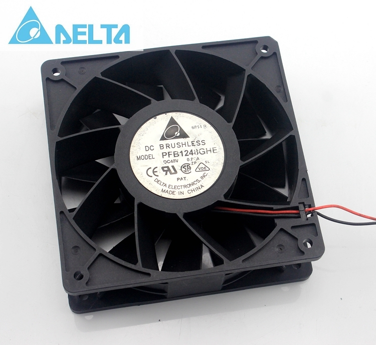 Original Delta PFB1248GHE 12038 48V 0.82A 12CM humidifier full waterproof axial case cooling fan 120mm original delta afc1212de 12038 12cm 120mm dc 12v 1 6a pwm ball fan thermostat inverter server cooling fan