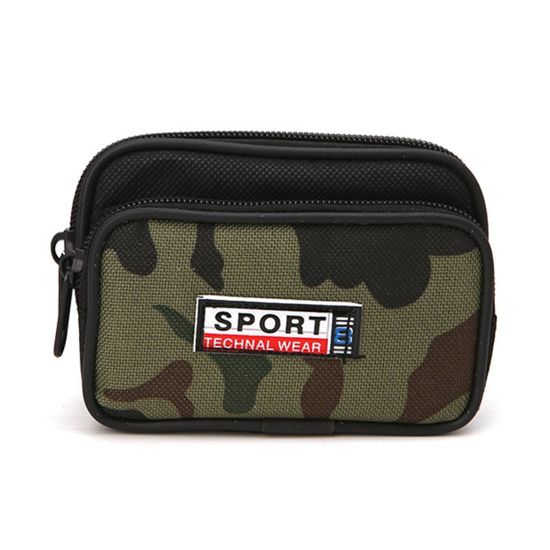 Universal Fashion Smart Phone Travelling Case Zipper Waist Bag Cover Card Pocket For Men
