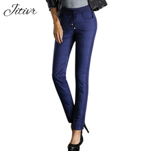 2017 New Thick White Down Pants Female Casual Cotton Trousers Soft Winter Pants Womens Plus Size Pencil Pants