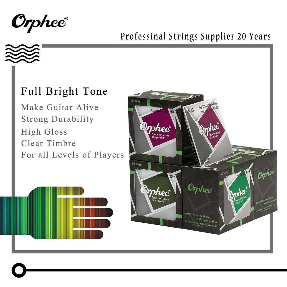 orphee high quality electric guitar strings full set nickel alloy hexagon core medium super. Black Bedroom Furniture Sets. Home Design Ideas