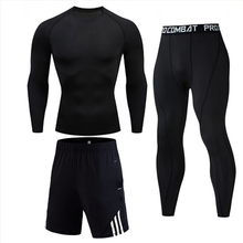 Thermal underwear Sport suit Men's Fitness Quick-drying Compression T-Shirt Long