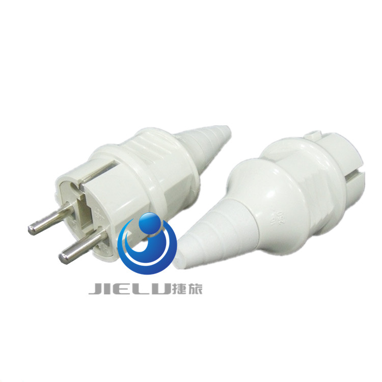 16A 250V, European 2 Pin DIY Rewirable socket EU 2 Pin Male Socket ,European EU Rewireable Power Plug White Color, купить недорого в Москве