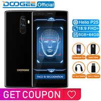 DOOGEE mezclar 2 6GB RAM 64GB ROM Helio P25 Octa Core 5,99 FHD + teléfono inteligente Quad Camera 16,0 + 13,0 MP 8,0 + 8,0 MP Android 7,1 De 4060mAh