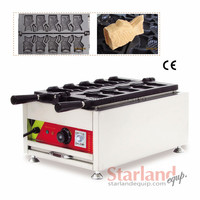 Commercial Ice Cream Taiyaki Maker 5 Moulds Open Mounth Fish Waffle Machine Street Snack Machine 220V