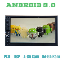 Android 9.0 double 2 din universal Car GPS Radio Multimedia player PX6 DSP 4+64GB Auto Stereo for nissan