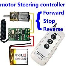 3,7 v 4,5 v 9 v 12 v motor Vorwärts Rückwärts lenkung drahtlose fernbedienung schalter Controller modul 433 mhz rf sender empfänger