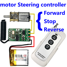 3.7v 4.5v 9v 12v motor Forward Reverse steering wireless remote control switch Controller module 433mhz rf transmitter receiver