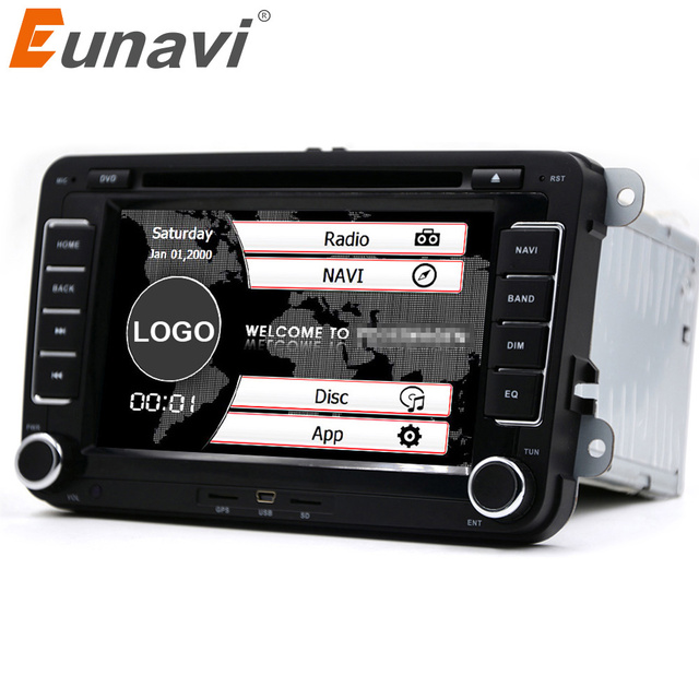 eunavi 2 din 7'' car dvd radio for vw transporter t5 2din golf 5 6