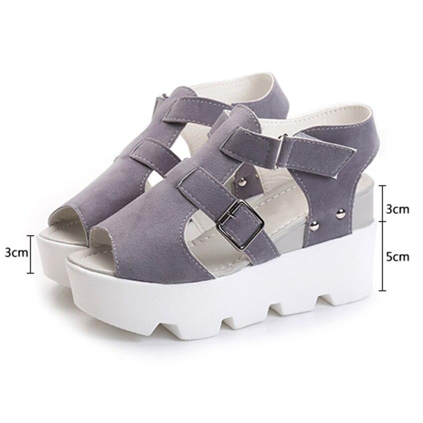 Gladiator Women Sandals 2017 Fashion Sandals Women Wedges Summer Shoes Sandals Shoes Women Hook&Loop Sandalias high heel (8CM) phyanic 2017 summer women sandals platform wedges sandals hook