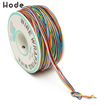50 100pcs tin plated breadboard pcb solder cable 26awg 7 8cm fly jumper cable 1007 26awg tin conductor wires connector wire diy 1 Roll Wrapping Wire 30AWG 0.25mm Tin Plated Copper Wire Wrapping Insulation Test Cable 8-Colored Circuit Board Fly Line