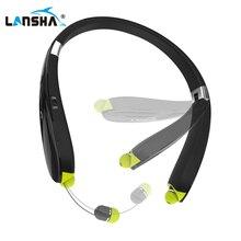 LANSHA Wireless Neckband font b Headphones b font Sports Bluetooth Headset With Mic Stereo Bass Noise