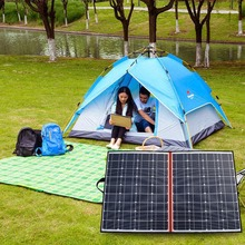 120W 18V Black Solar Panels only China Foldable+12/24V Volt Controller portable 120Watt painel solar panel power battery charge