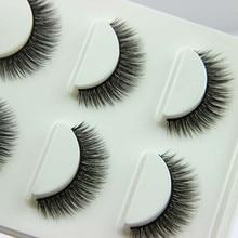 3 Pairs/1 set 3D Cross Thick False Eye Lashes Extension Makeup Super Natural Long