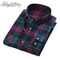 9e01ca4923c Davydaisy высокое качество Повседневное рубашки Для мужчин осень 2017 г. с  длинным рукавом мода фланель