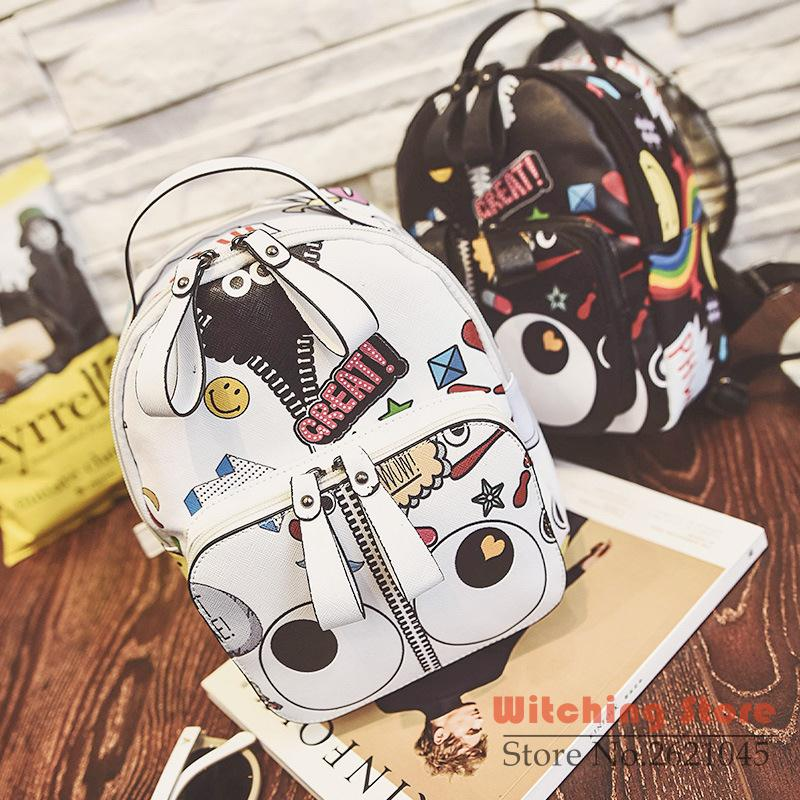 ФОТО backpack P1Perfect# 2016PU skin stay adorable cartoon printing character female   shoulder bag one generation FREE SHIPPING