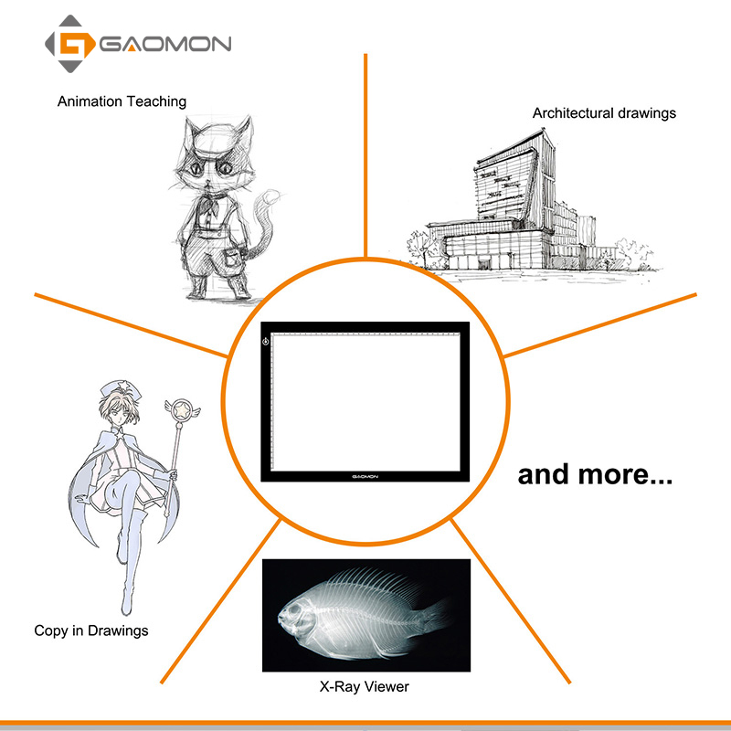GAOMON GB4 5 MM Ultradelgado LED Light Pad Tablero de la caja Tablero - Periféricos de la computadora - foto 3