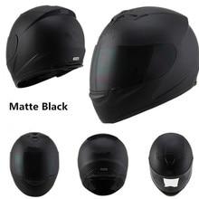 Полнолицевой шлем для мотоциклистов, шлемы для гонок, шлем для мотоциклистов, мотоциклетный шлем для мотокросса, КАСКО M, L, XL, XXL, матовый черный