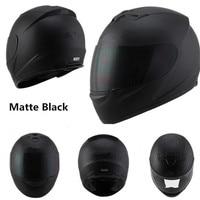 Полный шлем moto rcycle шлем для гонок dot capacete de moto ciclista para moto cross kask casco M L XL XXL матовый черный