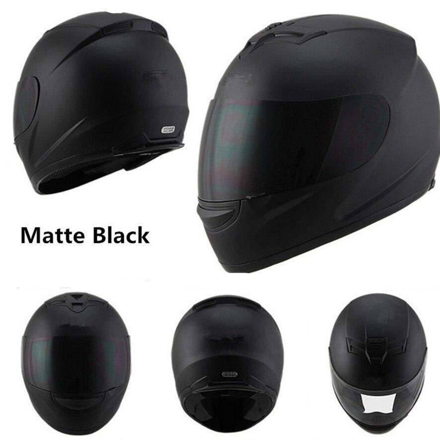 Cara completa casco moto rcycle cascos de punto capacete de moto ciclista párr moto Cruz kask casco M L XL XXL negro mate