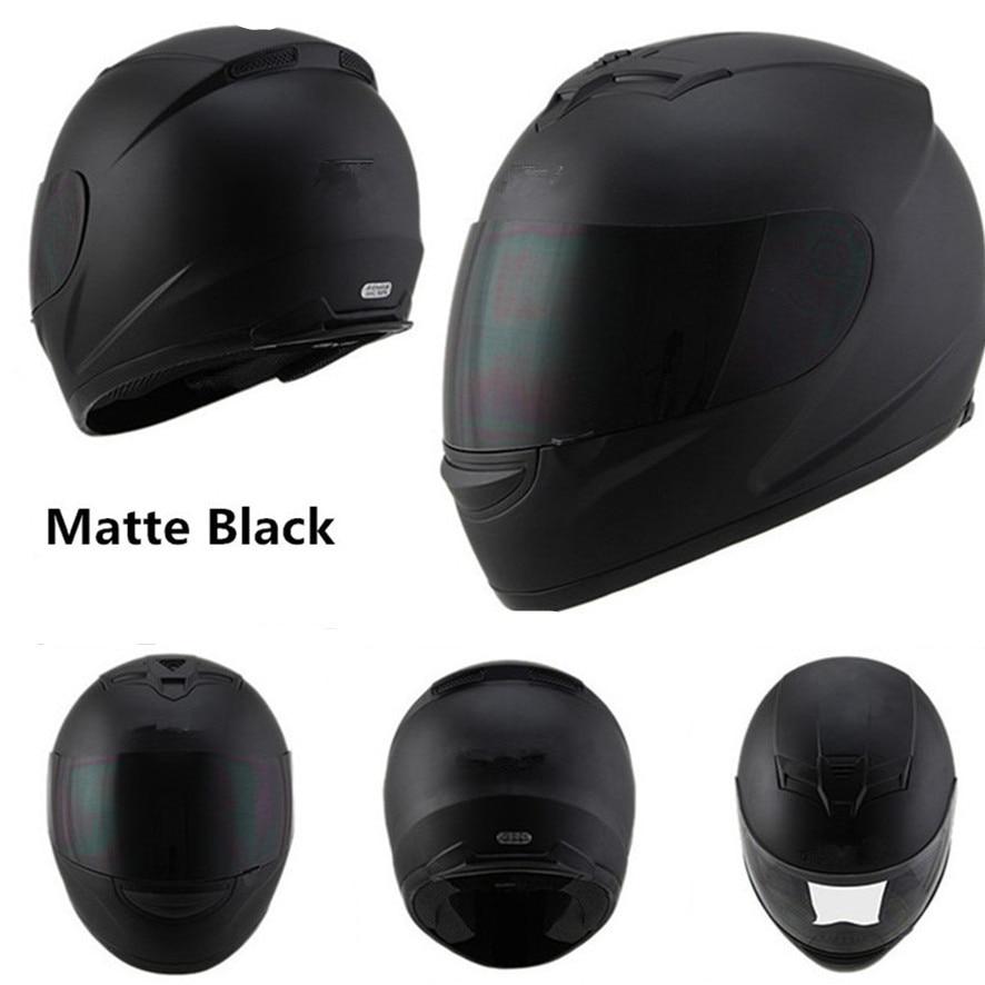 Full face helm moto rcycle helme Racing dot capacete de moto moto ciclista para moto kreuz kask casco M L XL XXL Matte schwarz