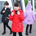 Зимнее пальто; новые детские зимние парки; зимние куртки для девочек; Детские модные пальто с принтом для девочек; плотные теплые детские ку...